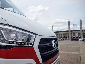 Hyundai jetzt Automobilpartner von Hertha BSC - Der #cl1 von #camperliebe vor dem Olympiastadion in Berlin